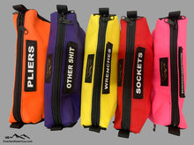 Load image into Gallery viewer, Tool Pouch with mesh ends and velcro ID Tag by Overland Gear Guy, Colorful Tool Pouches, Tool Bags, Custom Tool Pouches