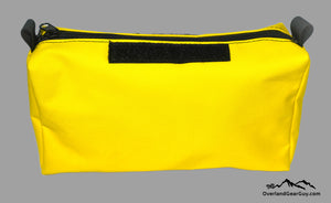 Yellow Storage Pouch with Velcro ID Tag