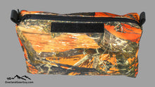 Load image into Gallery viewer, Blaze Orange True Timber Storage Pouch with velcro ID Tag by Overland Gear Guy