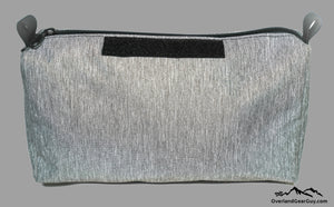 Gray Storage Pouch with velcro ID Tag by Overland Gear Guy