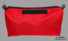 Load image into Gallery viewer, Red Modular Storage Pouch with velcro ID tag by Overland Gear Guy