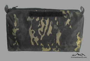 Black Crye Multicam Storage Pouch with velcro ID Tag by Overland Gear Guy