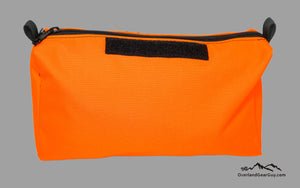 Florescent Orange Tool Pouch with velcro ID Tag by Overland Gear Guy