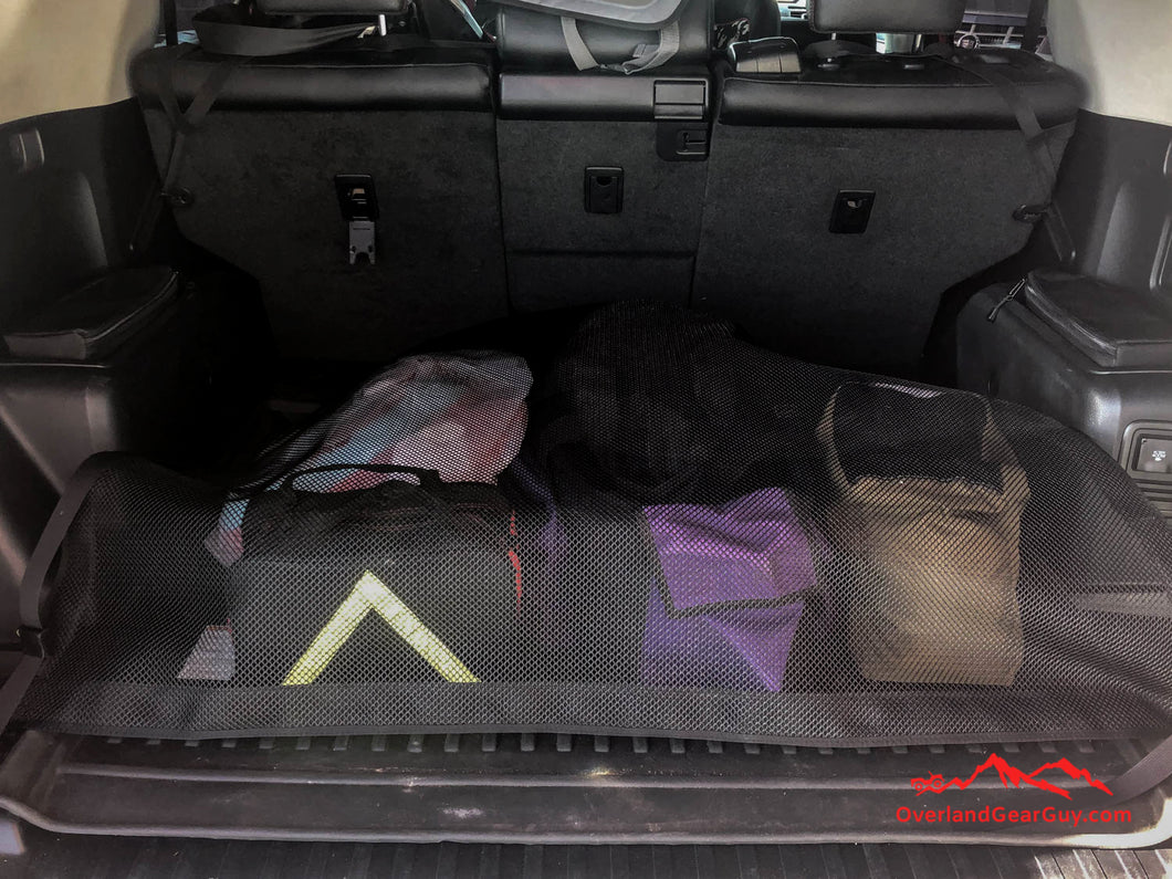 Mil Spec cargo net for 4Runner, Toyota accessories by Overland Gear Guy