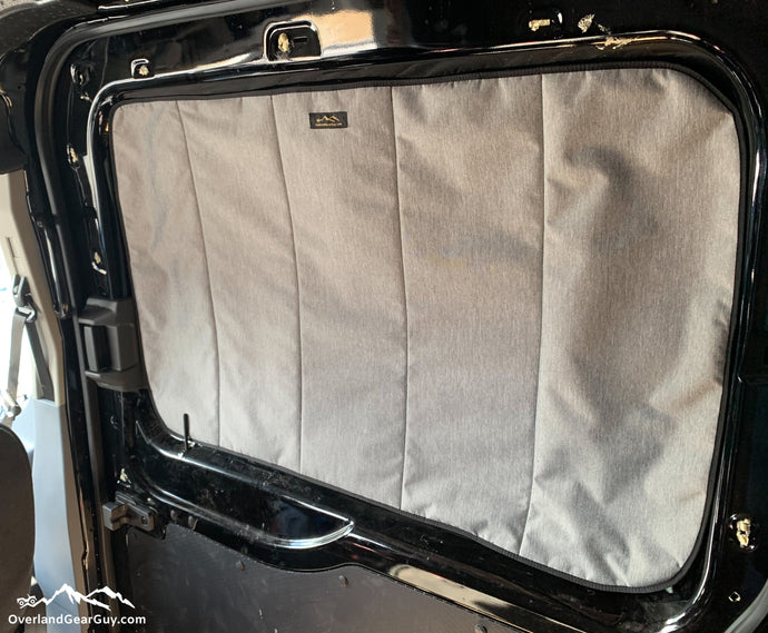 Deluxe Magnetic Insulated Sliding Door Window Cover for Ford Transit, Ford Transit van accessories by Overland Gear Guy