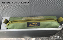 Load image into Gallery viewer, Universal Storage Cubby Pouch by Overland Gear Guy, custom storage pouch, vehicle storage, door cubby pouch, Ford E350, Ford accessories, OD accessories
