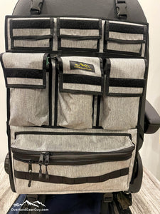 Universal Seat Organizer, Great for Sprinter Vans, Promaster Vans, Transit Vans, Jeeps, Pickups, Tacomas. 4Runners. - Obsidian