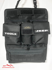 Universal Seat Organizer by Overland Gear Guy - Vehicle Organizer with pocket, velcro patches