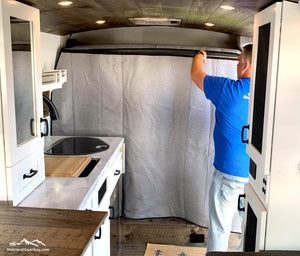 Promaster Van Wall Partition, Promaster Privacy Wall by Overland Gear Guy