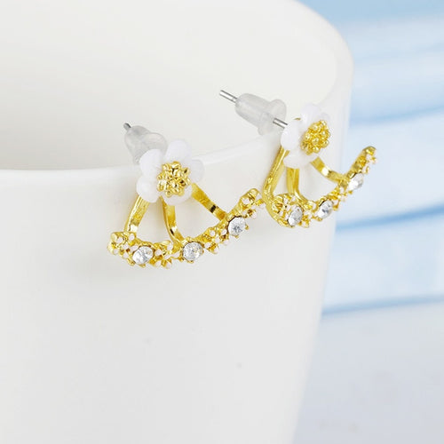 Crystal Flower Drop Earrings - FinishingTouchesx