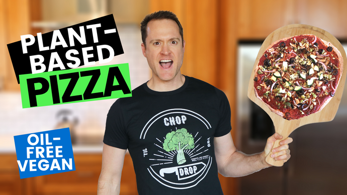 Oil Free Pizza Crust | Vegan Pizza Sauce Recipe (Healthy & Plant Based)