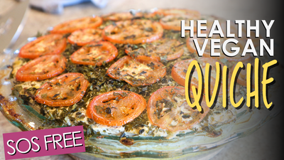 Easy Vegan Brunch! Polenta Veggie Quiche | Vegan Oil Free