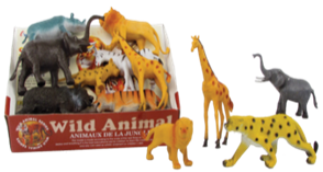"5""-6"" WILD ANIMAL 12PCS/DISPLAY"