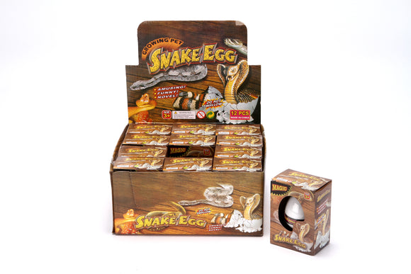 GROWING EGG-SNAKE  12pcs/display
