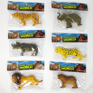 Soft plastic animal; 6 designs assorted B 12 bags/pk