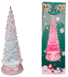 10'' LIGHT UP CHRISTMAS TREE  12PCS/PK