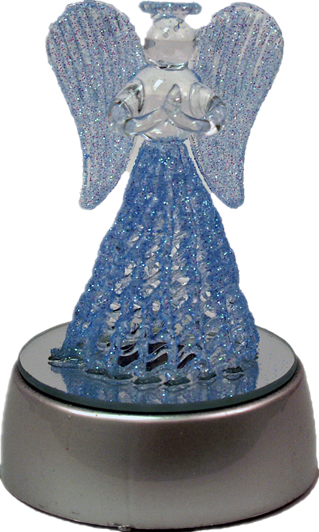 3inch Pray Angel on LED Light-up Base 12pcs/pack (Blue & Pink)