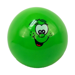 "9"" MOODY FACE INFLATABLE BALL 12PCS/PK, ASSORTED COLOR"