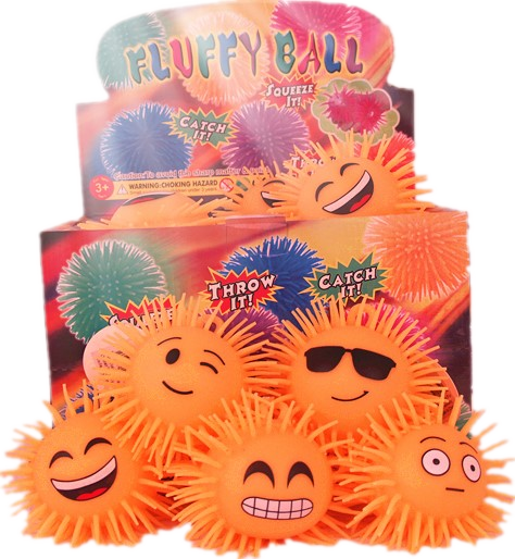 6 Styles Fluffy Ball 24 pcs/pk