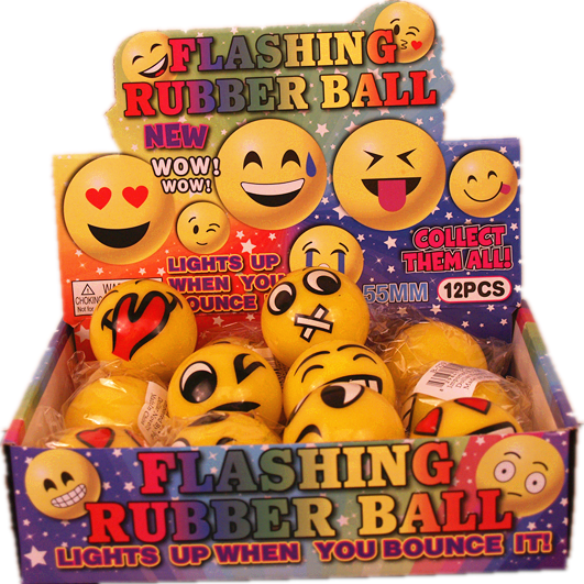 Flashing Rubber Ball A 12 pcs/pk