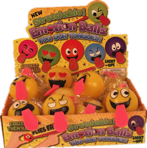 STRETCHABLE EMOTION BALL TUG OUR TONGUES  12pcs/pk