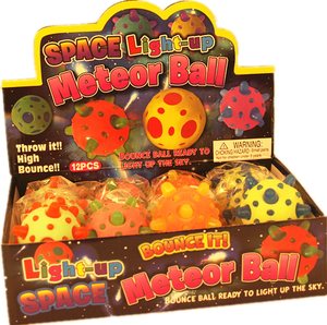 SPACE LIGHT UP METEOR BALL 12pcs/pk