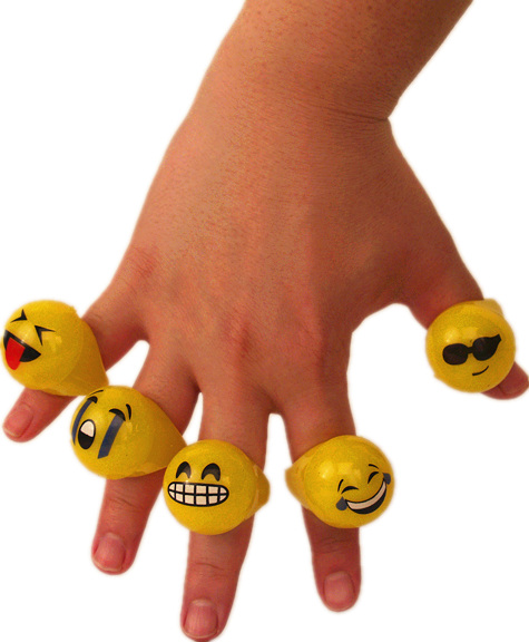 Light Up Emotion Ring 24 pcs/pk