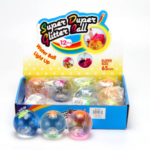 "Bouncy Ball 2.5"" with Multi-Color LED & Insect  12pcs/display"