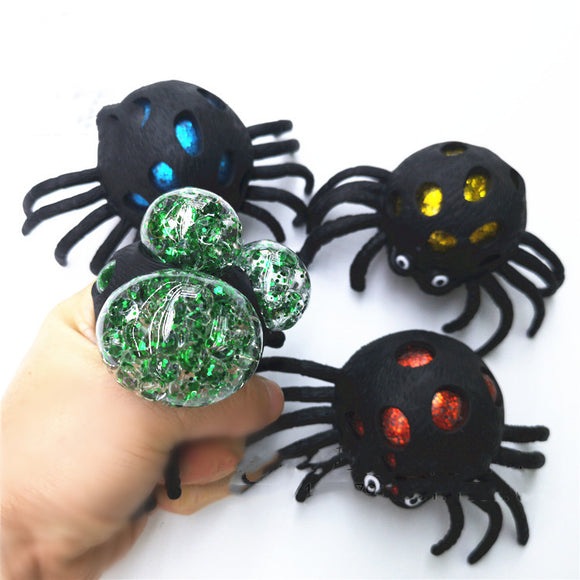 Mesh Ball Spider 2.75'' assorted colors  12pcs/display