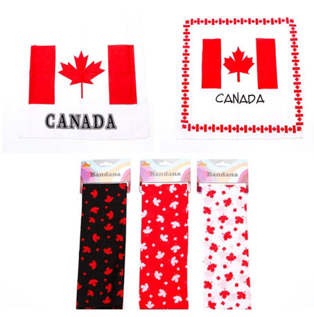 CANADIAN BANDANA- 5 COLORS 12PCS/PK/COLOR