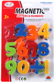 LARGE MAGENTIC NUMBERS 12 PCS/PK
