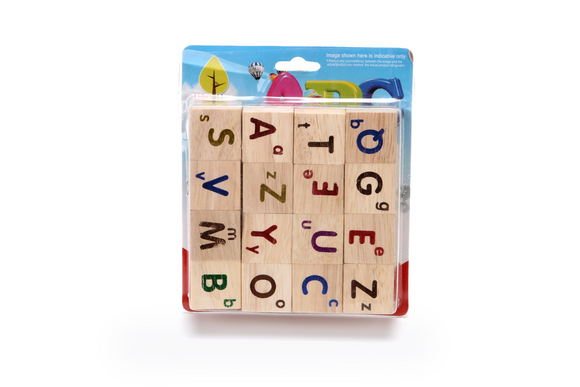 16PCS WOODEN LETTER BLOCK 12 PCS/PK