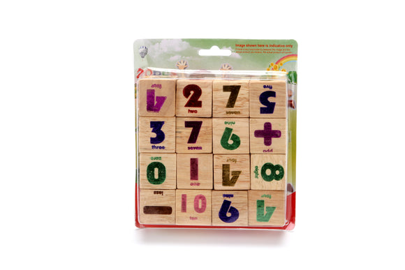 16PCS WOODEN NUMBER  BLOCKS  12PCS/PK