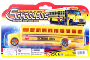 "8"" PLASTIC SCHOOL BUS  12PCS/PK"