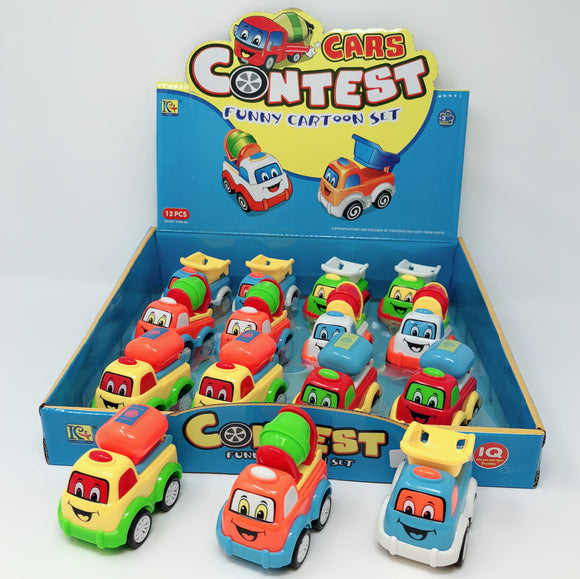 PULL BACK CONSTRUCTION TRUCK 3''  12 PCS/DISPLAY 3 styles assorted