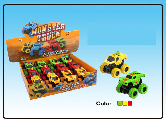 Monster truck friction 12pcs/display