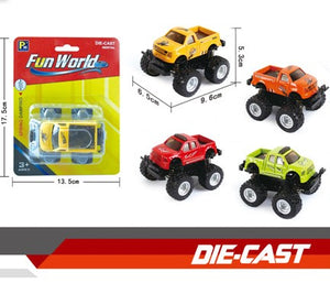 "Die-cast monster truck 4""  12pcs/pk"