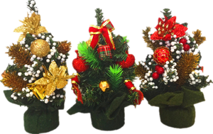 20cm decorated Christmas tree 6 PCS/PK