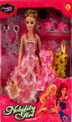 "11"" DOLL WITH CLOTH & ACCESSORIES 6PCS/PK"