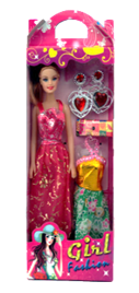 "11"" DOLL WITH CLOTH & ACCESSORIES  12PCS/PK"