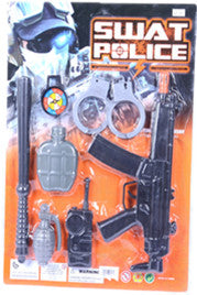GUN WITH HANDCUFFS ,WALKIE-TALKIED SET12PCS/PK