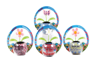 SOLAR POWERED FLOWER WITH WORDS  12PCS/PK