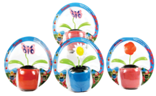 SOLAR POWERED FLOWER  12PCS/PK