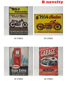 "8"" X 12"" OLD FASHION METAL SIGN assorted  12pcs/pk"