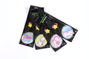 GLOW WRISTBAND-UNICORN assorted designs 12pcs/pk