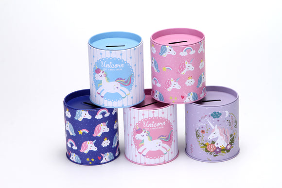 Coin Bank Unicorn assorted styles 12pcs/pk
