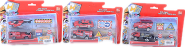Die cast  rescue set, 3 designs assorted 12 PCS/PK