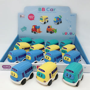 PREMIUM FRICTION SCHOOL BUS 3.5''  12 PCS/DISPLAY 3 COLOURS ASSORTED