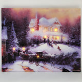 "12""x16"" LED LIGHT CHRISTMAS CANVAS ASSORTED  6 pcs/pk (Battery not included) - Special offer"