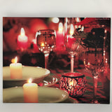 "16""x20'' LED LIGHT CHRISTMAS CANVAS ASSORTED  6 pcs/pk (Battery not included) - special offer"